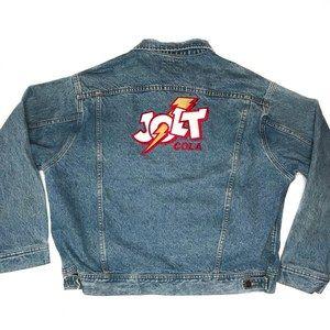 Rare JOLT COLA Vintage 80s 90s Denim Jean Jacket